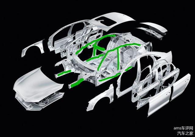 标绿色的表示结构件