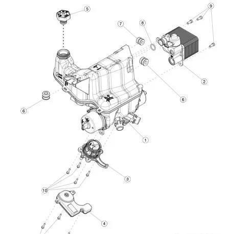 网图:集成冷却水壶