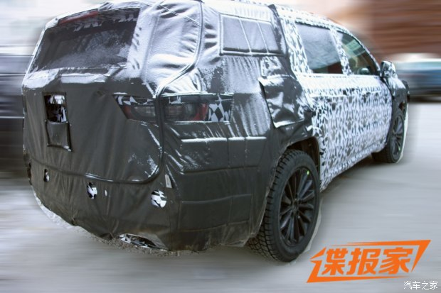 采用2+3+2布局 曝Jeep全新SUV测试谍照