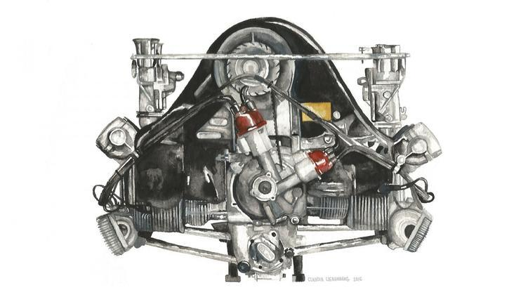 水平对置发动机,保时捷发动机